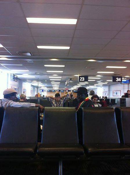 Assane, Ons, Carlo, Kyssi We ̀te correspondance Aéroport  d'Ottawa, Saskatchéwan Tour, 20 juin 2013, Canada