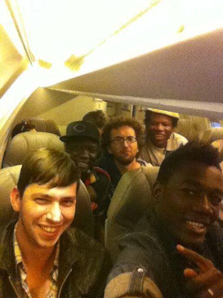 Carlo, Assane, Ons, Lionel, Kyssi W ète Saskatchéwan  Tour. Canada