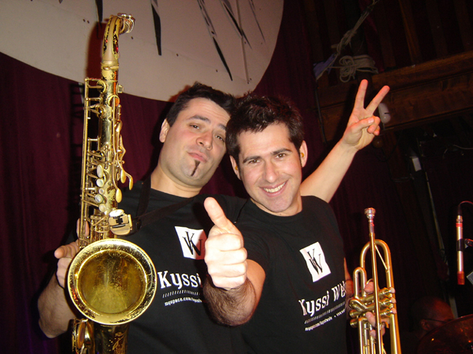 Christophe et Lorenz, concert au Ze?b re de Belleville  juin 2008, Paris