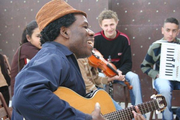 Kyssi Escale tour, école de musique Al Kamandjati,  Ramalah Palestine 18 mars 2008