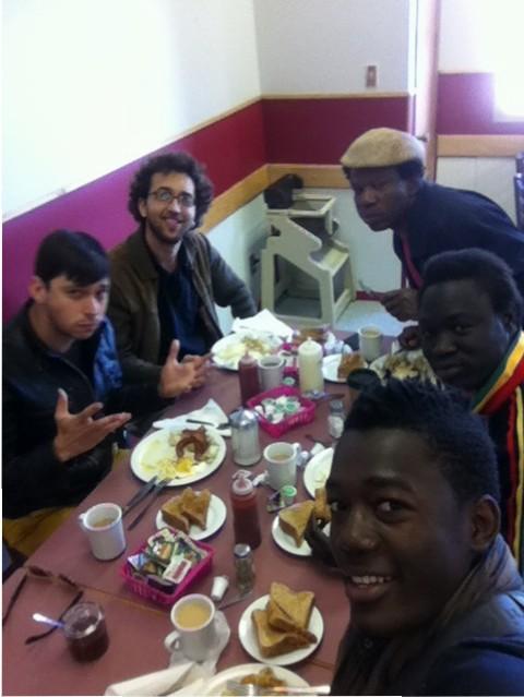 Kyssi, Ons, Carlo, Assana, Lionel, Gravelbourg Saskatchewan Tour 2013, Canada