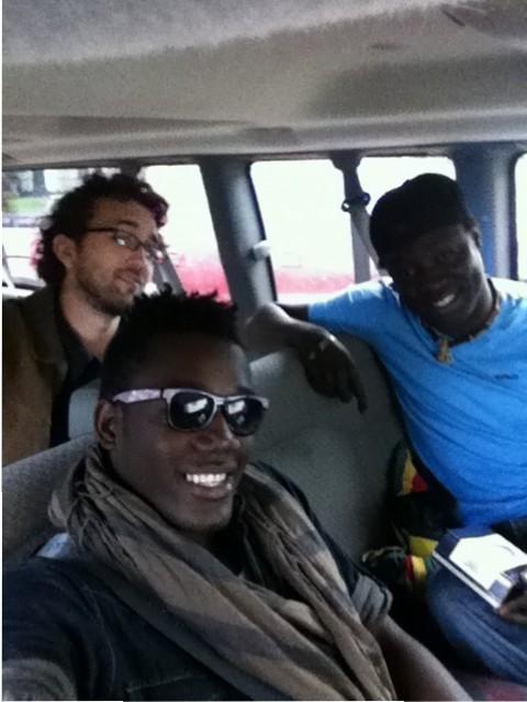 Ons, Carlo, Assane, Kyssi Car Tour Saskatoon juin 2013, Canada