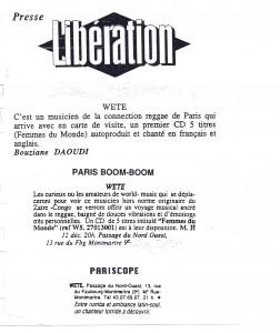 kyssi Wete - Libération